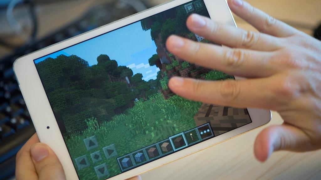 scen ur ett datorspel. Foto: TT