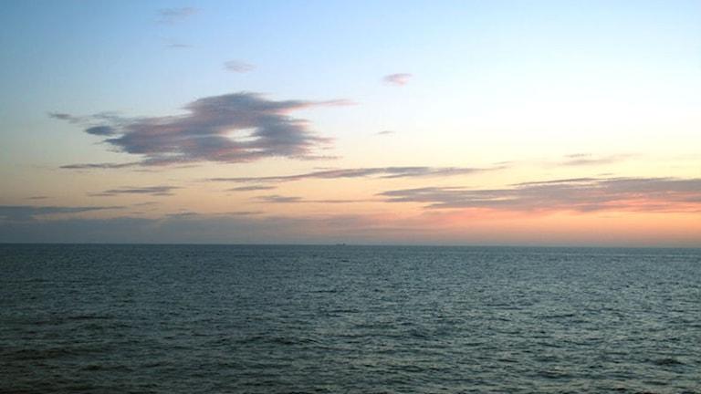 Solnedgång över Östersjön.