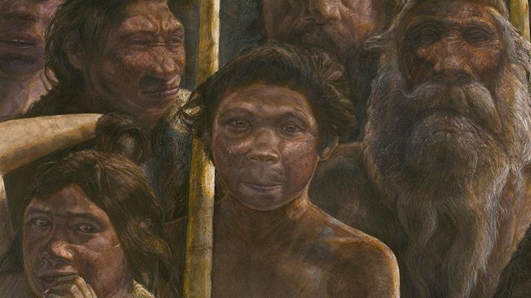 Förmänniskorna som hittats i den spanska grottan Sima de los Huesos levde för runt 400 000 år sedan. Bild: Kennis & Kennis, MADRID SCIENTIFIC FILMS