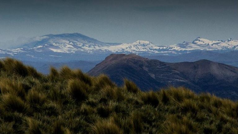 Vulkanlandskap och vildmark