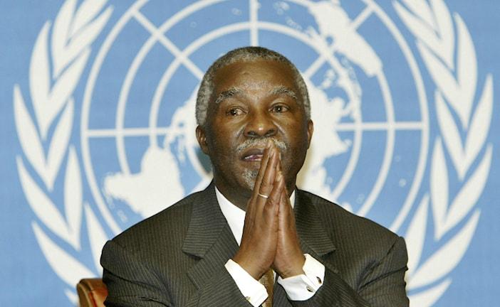 Thabo Mbeki 2003 under FN-möte om aids