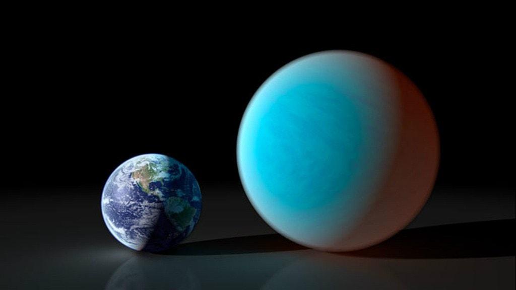 Jorden och superjorden 55 Cancri - så olika stora är de