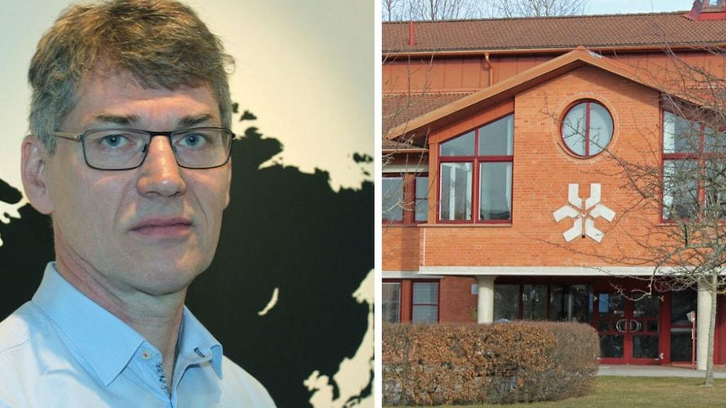 Bildkollage Sven Stafström och Linköpings universitet