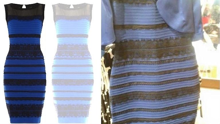 24c94c319034 Fotomontage av bilder på klänningen som personer ser olika färg på och som  blev en viral