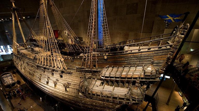 skeppet inne i museet