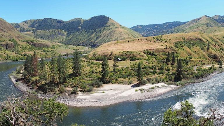 Ett vackert flodlandskap