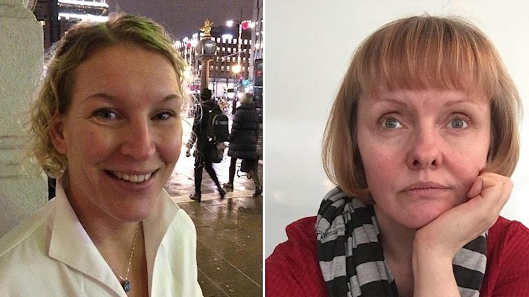 Ihopsatta bilder Linda Wemmert och Mia Engström