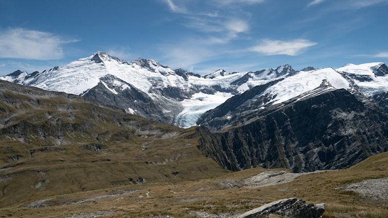 Snötäckt glacier