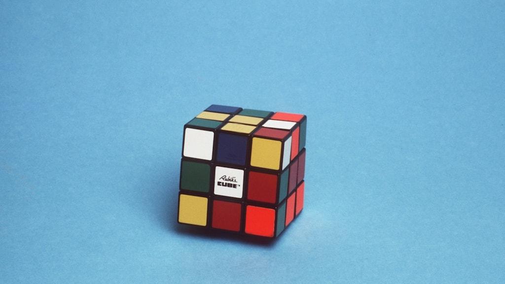 En Rubiks kub.
