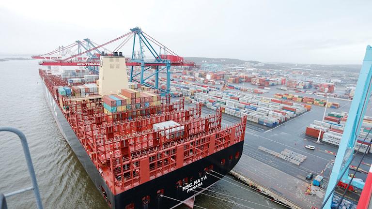 Världens största containerfartyg MSC May