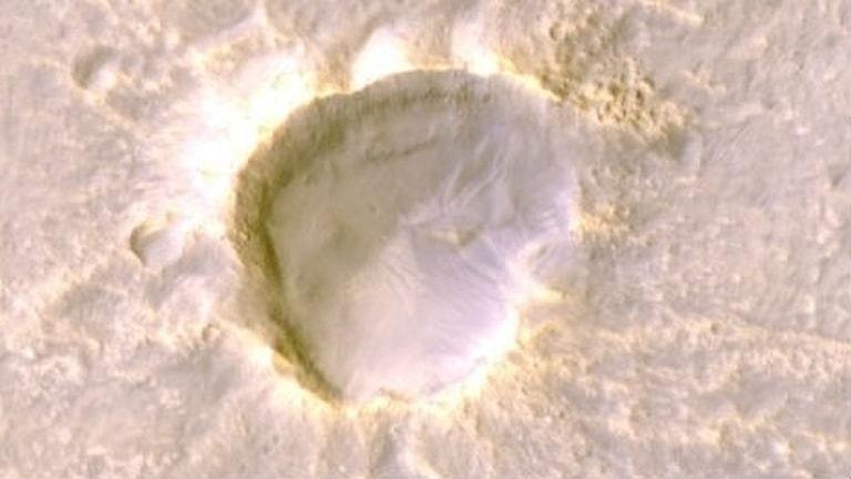 Bild uppifrån på Oxia Planum (18.3N, 335.3E) på Mars norra halvklot