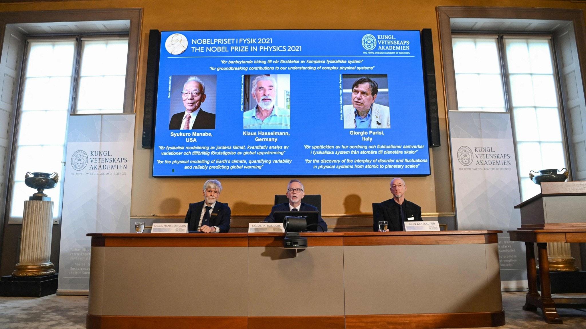 Klimatforskning får årets Nobelpris i fysik - spela