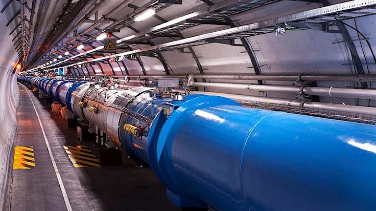 partikelaccelerator i tunnel