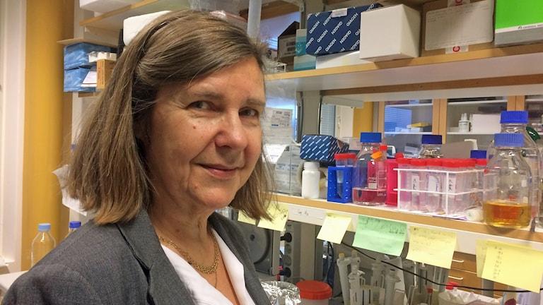 Gunilla Enblad i labbmiljö