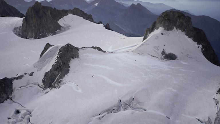 Bergsmassiv mellan Frankrike och Italien