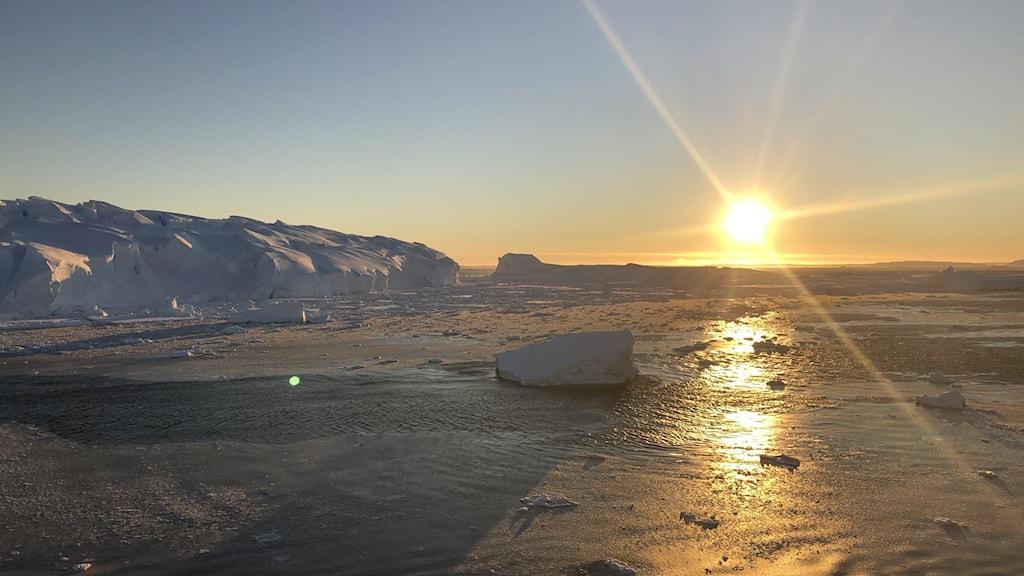 Thwaites-glaciären i västra Antarktis.