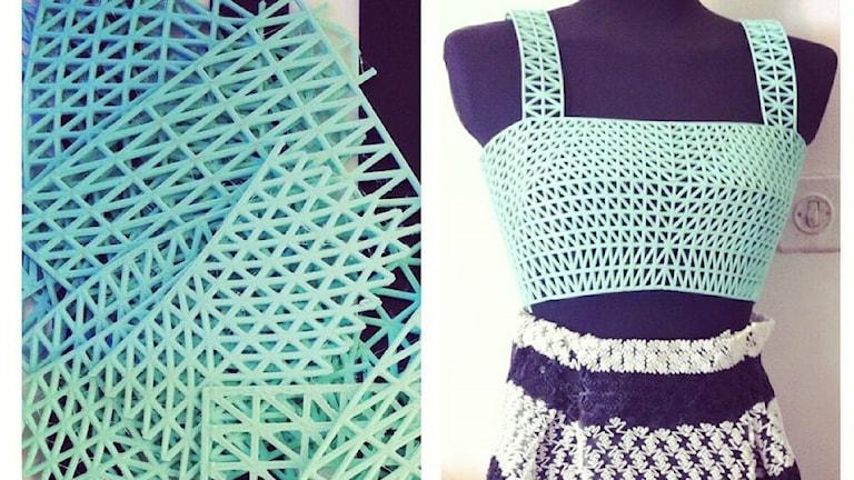Kläder tillverkade av 3D skrivare