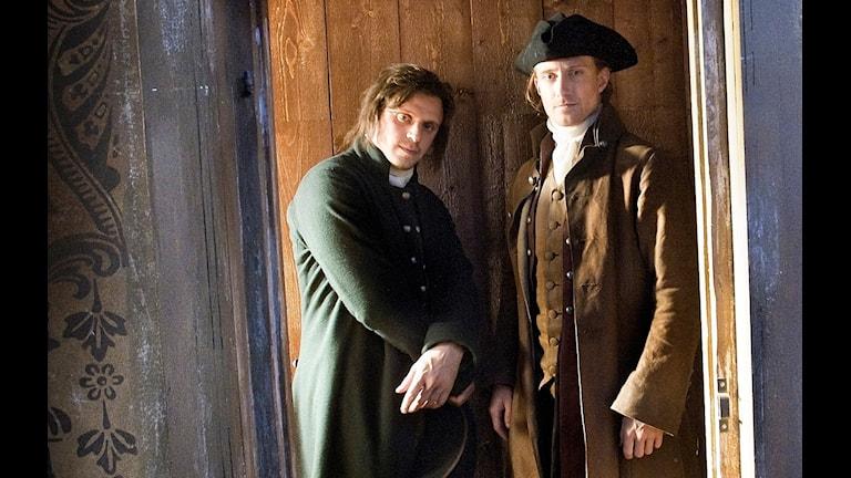 Foto från inspelningen av TV-dramat Anno 1790.