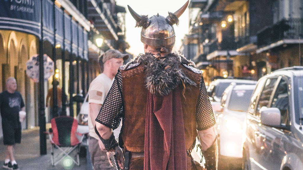 Viking i en modern stad