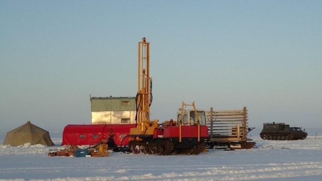 Borrplattform i Arktis