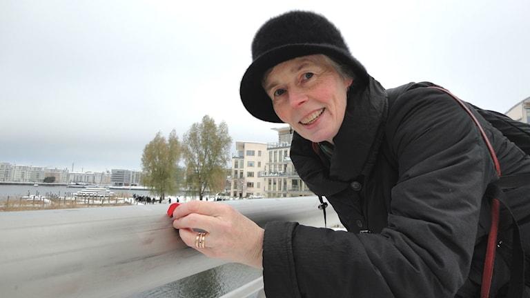 Jernkontorets forskningschef Rachel Pettersson på Sicklauddsbron