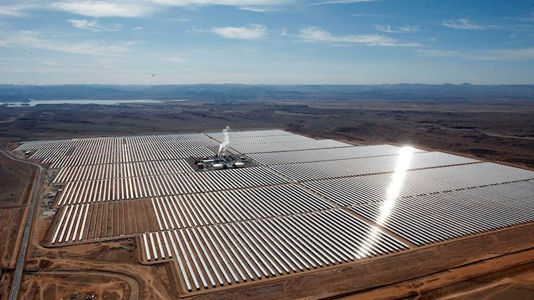 anläggning för solkraftverk