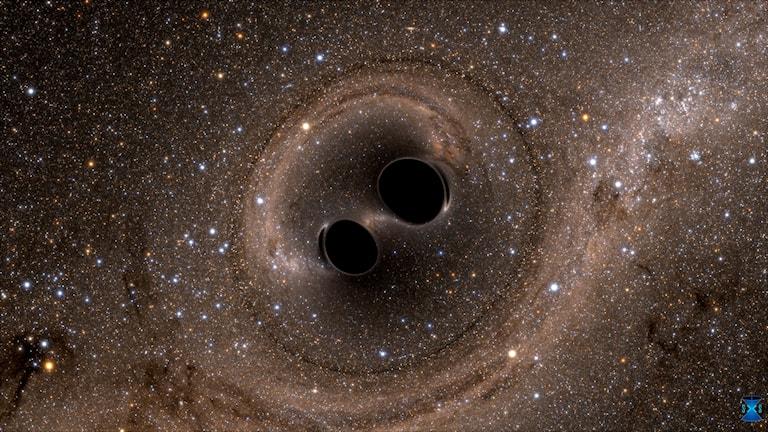svarta hål nära varandra