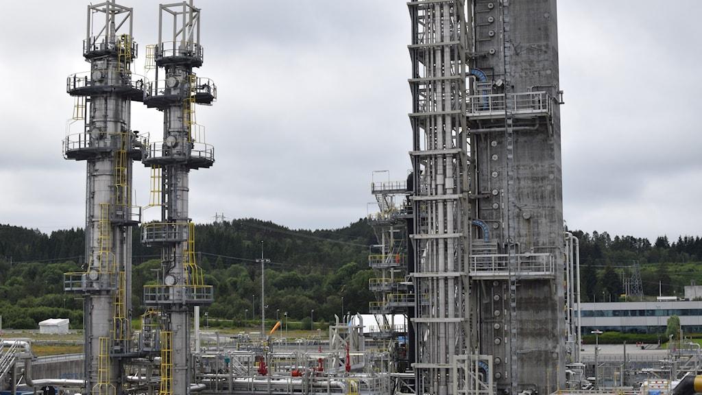 Anläggning i Mognstad som experimenterar med infångning av CO2.