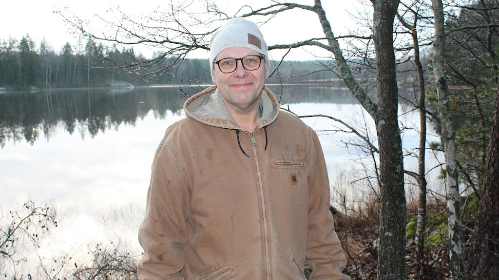 Leif Öster, turistföretagare som bor i biosfärområdet Älvlandskapet Nedre Dalälven.