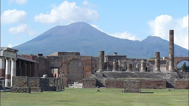 Pomeji framför Vesuvius