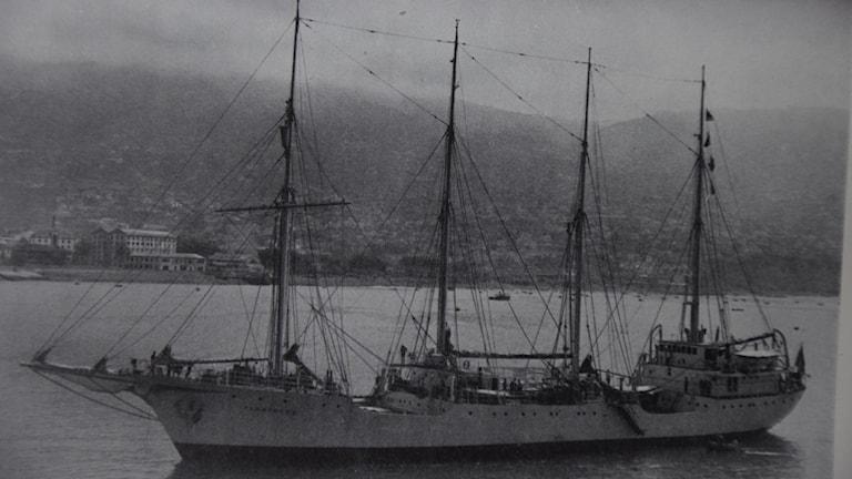 Albatrossfartygen vid Madeira.