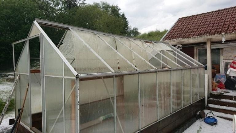 Trasigt växthus.