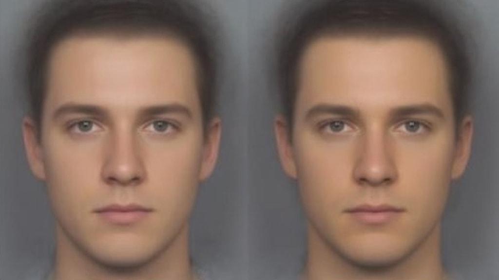 Före och efter 12 veckor syns en viss skillnad i hudtonen på männen.