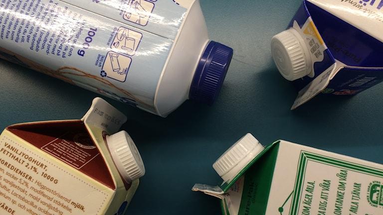 Plastkorkar på mjölkpaketen kan återanvändas som drivmedel