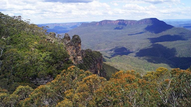 Blue Mountains vidsträckta landskap
