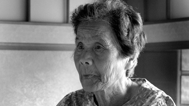 En äldre japansk kvinna