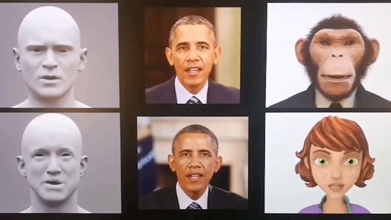 Sex bilder på bland annat Barack Obama och en apa.