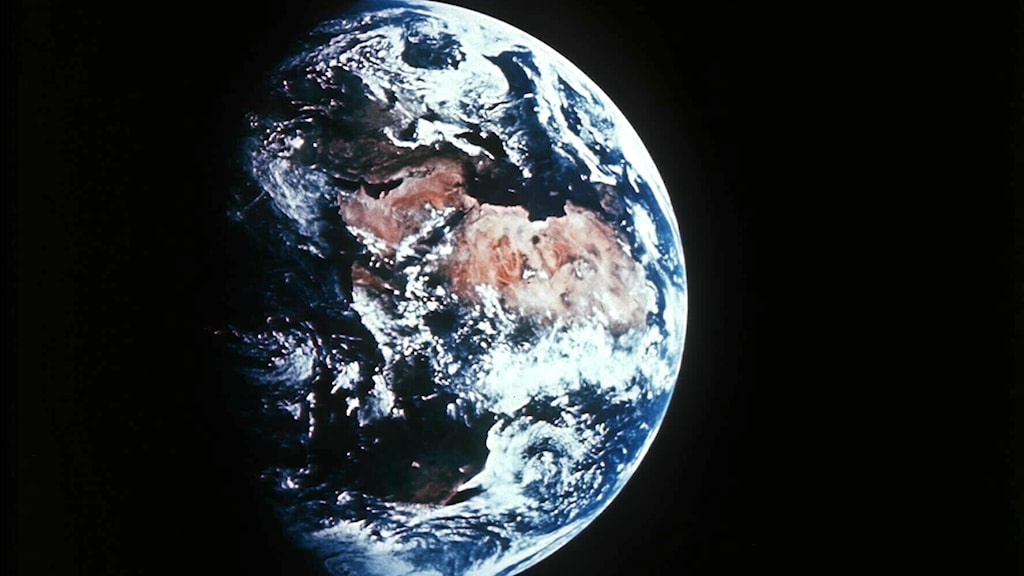 Jorden sedd från satellit.