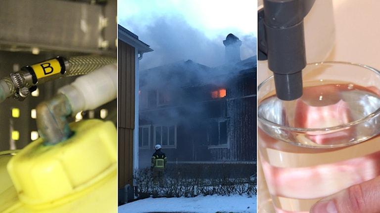 Under branden i Hamre förorenades brunnar av PFAS-ämnen i brandskummet.