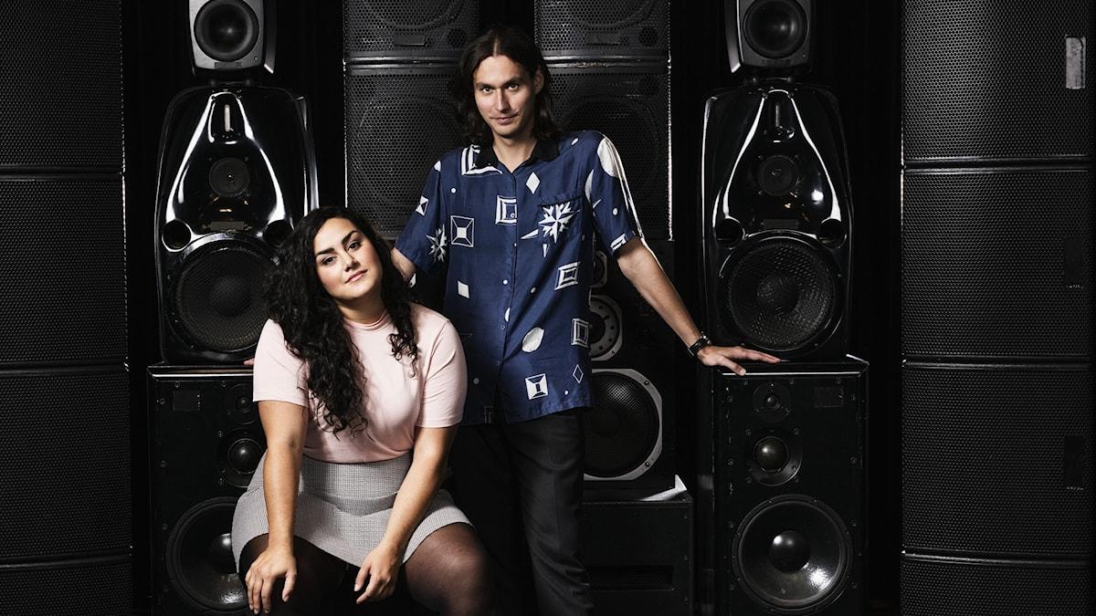 Tina Mehrafzoon och Samir Yosufi, programledare Musikguiden i P3