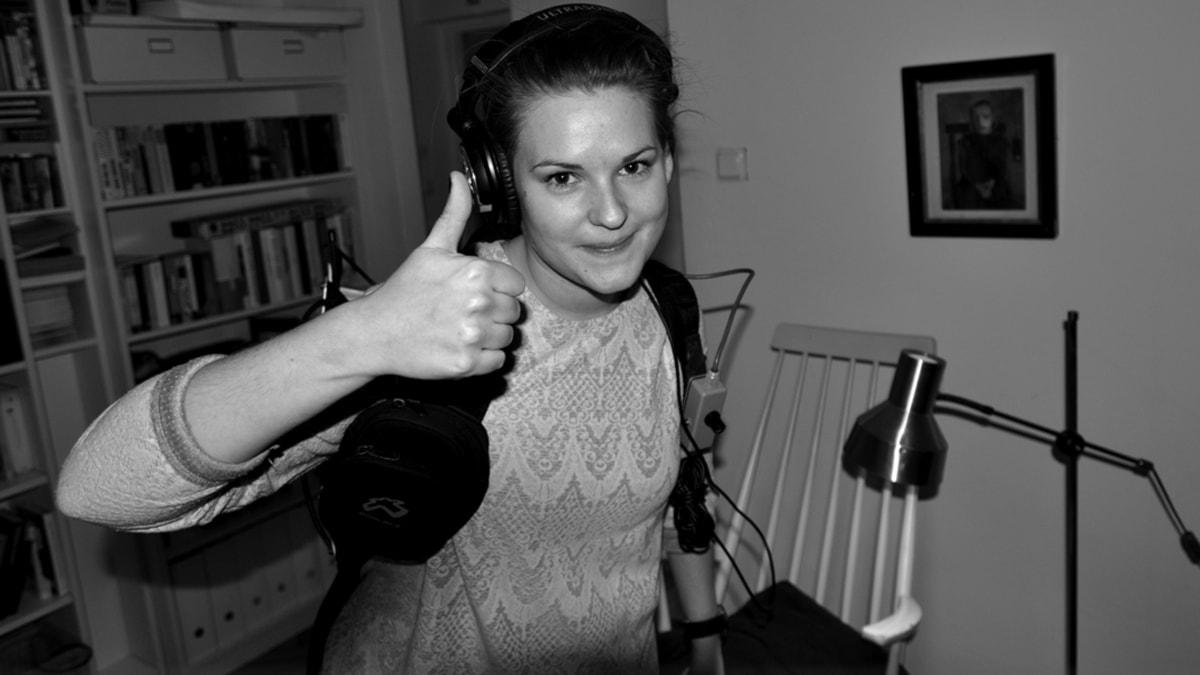 Reporter Kajsa Lundström är all good (foto: Torsten Larsson/SR)