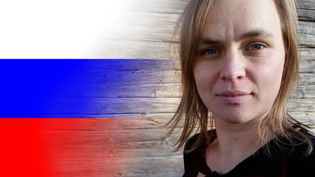 Rysk flagga + Mirjam