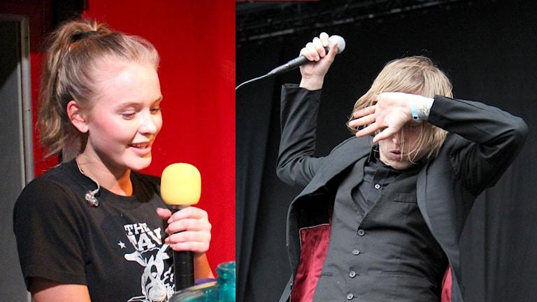 Zara Larsson och Dennis Lyxzén.
