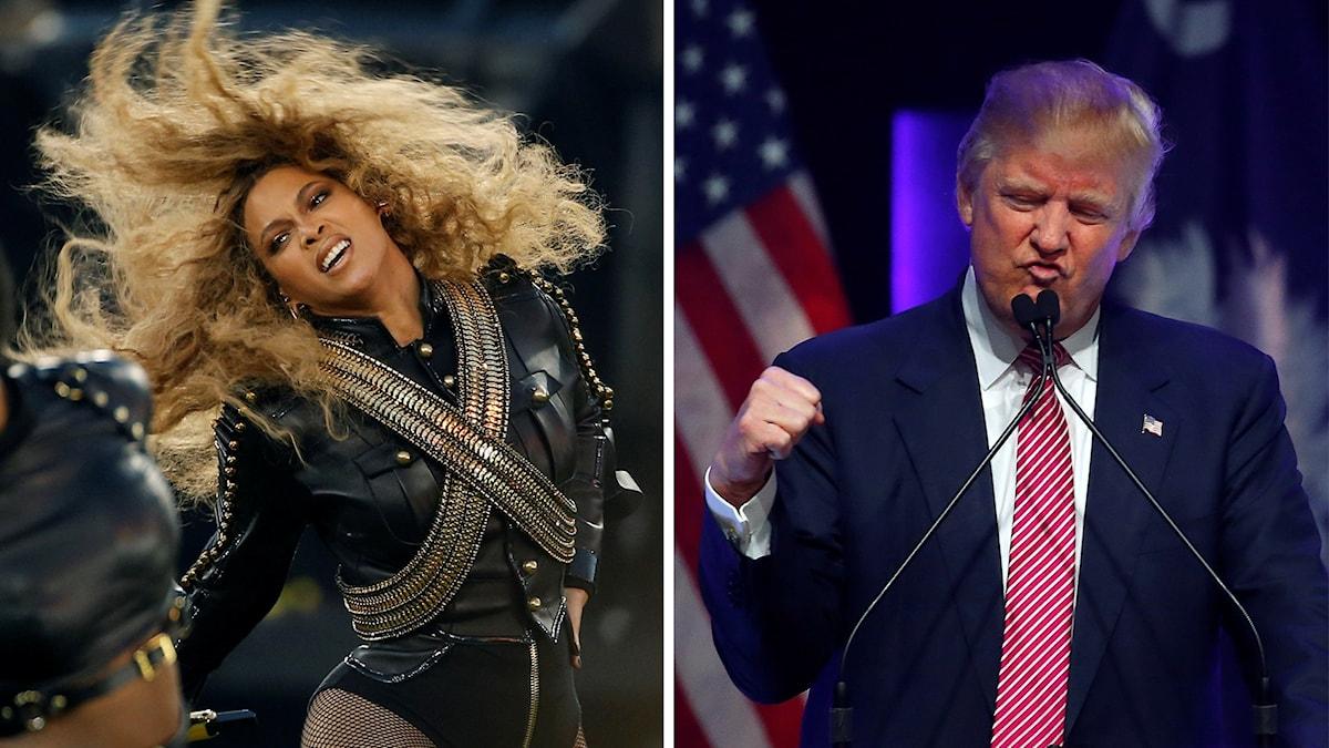 Beyonce och Donald Trump.