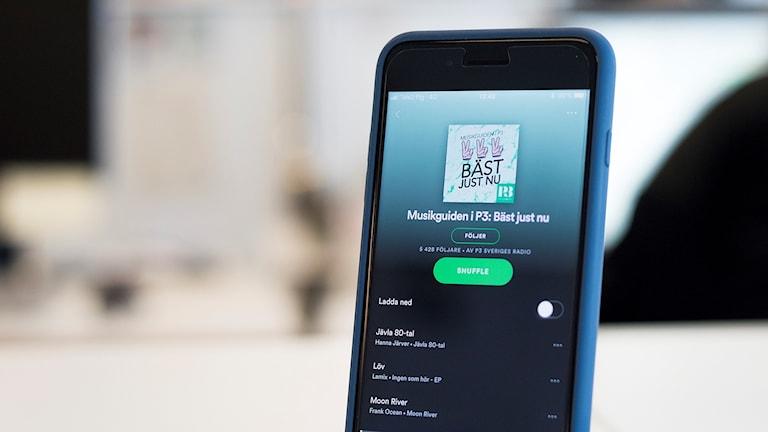 Musikguiden i P3 - spellista på Spotify och Apple Music