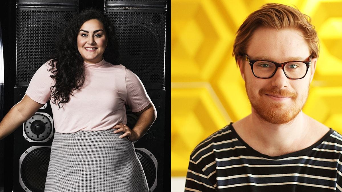 Tina Mehrafzoon och Adam Hallberg