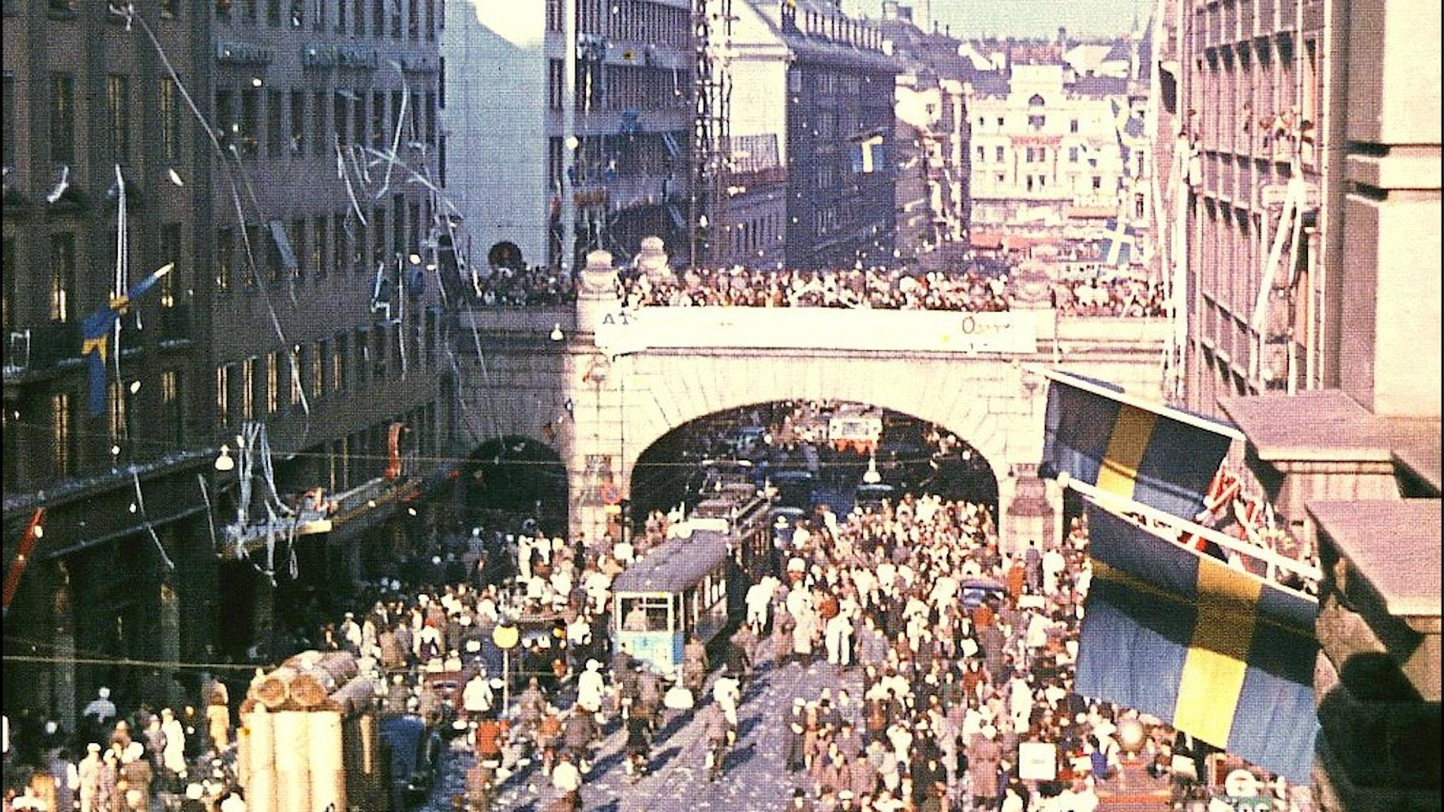 Kungsgatan 7 maj 1945.