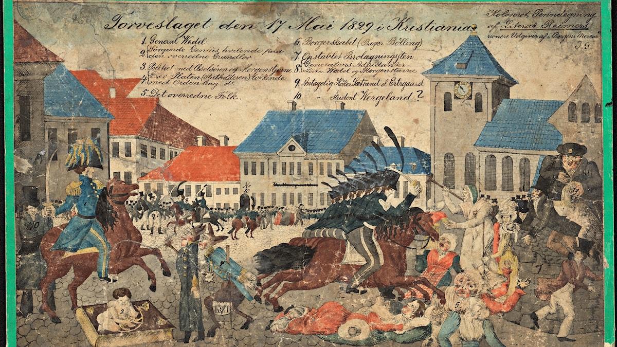 Torgslaget den 17 maj 1829.
