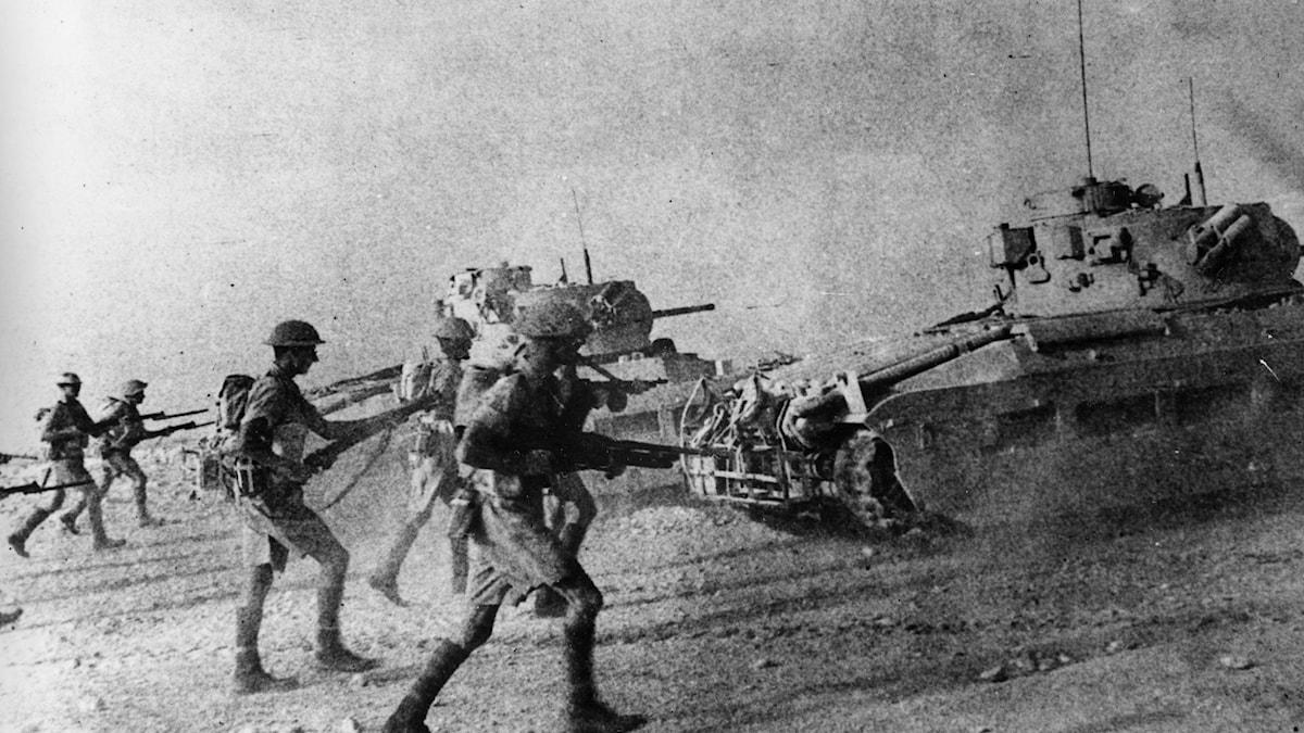 Brittiska soldater vid El Alamein 1942.