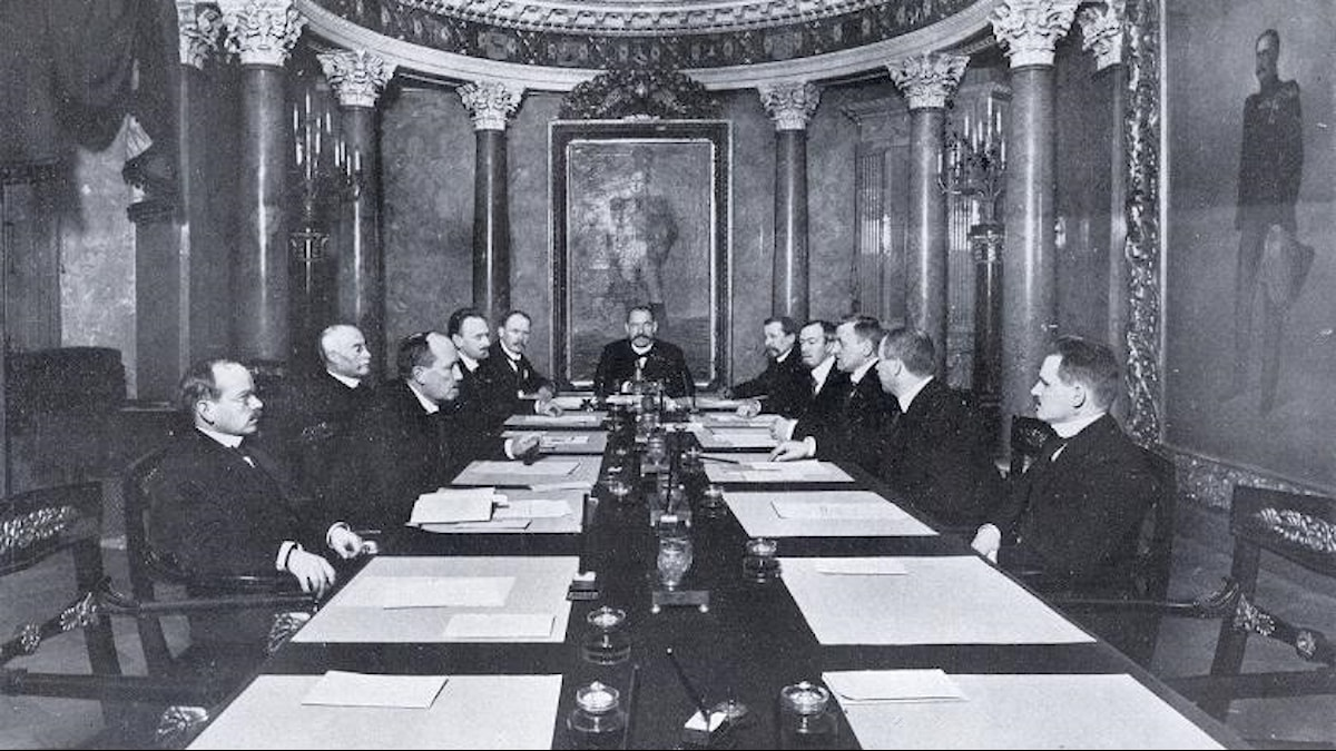Finska senaten som drev igenom självständigheten 1917.